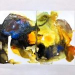 Alex Gough, Wilderness in Paint 115, 84 x 59.4cm, 2019