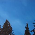 Sininen Hetki (2). 80 x 220 cm Oil acrylic and ink on canvas. 2008