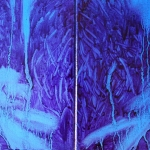 Hämärässä 160x120 cm x 2 Oil on canvas. 2008