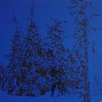 Ilta Tunturilla 100 x 50 cm Oil acrylic and ink on canvas. 2007